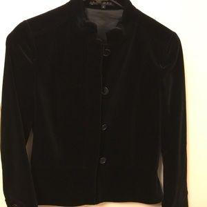 Theory Black Velvet Button Jacket